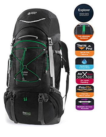 TERRA PEAK Adjustable Hiking Backpack 55L