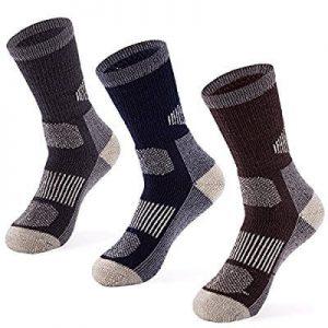 3 Pack Merino Wool Blend Socks