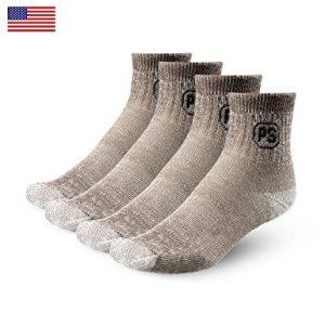 4pairs 71% Merino Wool Ankle Socks for Men Women