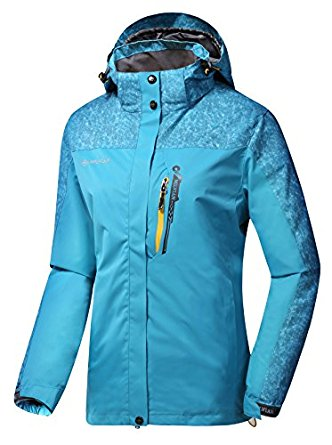 Women's Hooded Softshell Raincoat Waterproof Jacket