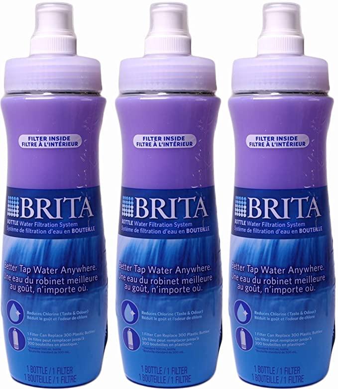 Brita Sports Water Filter Bottle, Multi-Pack