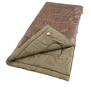 Coleman Oak Point Cool Weather Sleeping Bag (Best Backpacking Sleeping Bags Under $100)