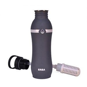 Erba Stainless Steel Filter Water Bottle (Best Filtered Water Bottles For Hiking)