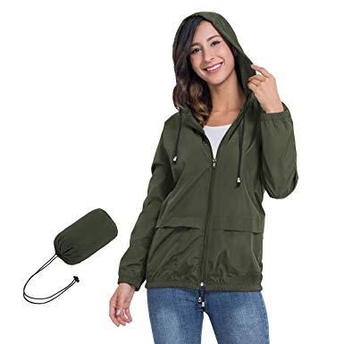 JTANIB Women's Lightweight Hooded Waterproof Raincoat Windbreaker Packable Active Outdoor Rain Jacket review