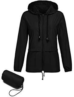 Kikibell Women's Lightweight Raincoat Waterproof Packable Rainwear Outdoor Windproof Hooded Active Rain Jacket review