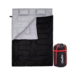 Ohuhu Double Sleeping Bag with 2 Pillows (Best Backpacking Sleeping Bags Under $100)