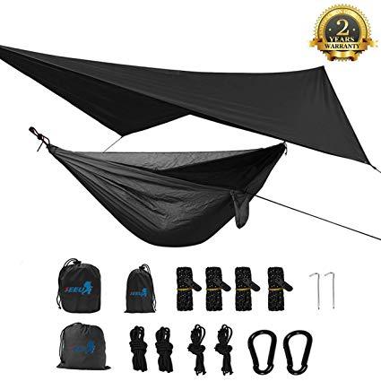 SEEU Camping Hammock with Mosquito Net, Rain Fly, Single Hammock review