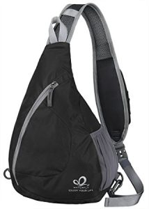 WATERFLY Sling Chest Backpacks Bags Crossbody Shoulder Triangle Packs Daypacks