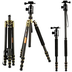 K&F Concept TC2534 Lightweight Portable Camera Tripod