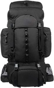 AmazonBasics Internal Frame Hiking Backpack with Rainfly - 50 L + 5 L
