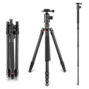 Neewer Carbon Fiber Lightweight Portable Tripod review (Best Hunting Tripods for Spotting Scopes)