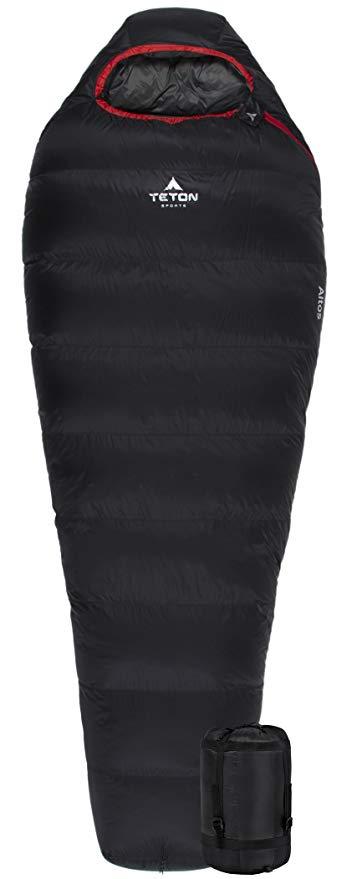 Teton Sports Altos Ultralight Mummy Sleeping Bag reivew
