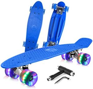 Complete Mini Cruiser Retro Skateboard - Beleev