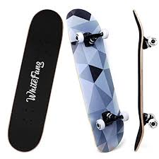 Complete Skateboard - WhiteFang (Skateboard For 6 Years Old )