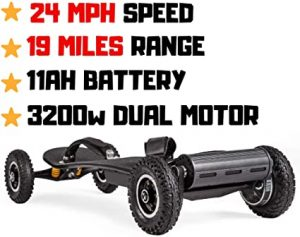OUTSTORM 24MPH Off Road Electric Skateboard