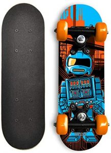 Rude Boyz 17 Inch Mini Wooden Cruiser Graphic Beginner Kids Skateboard