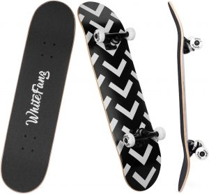 WhiteFang Skateboards for Beginners, Complete Skateboard