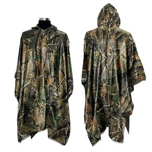 LOOGU Waterproof Camouflage Raincoat