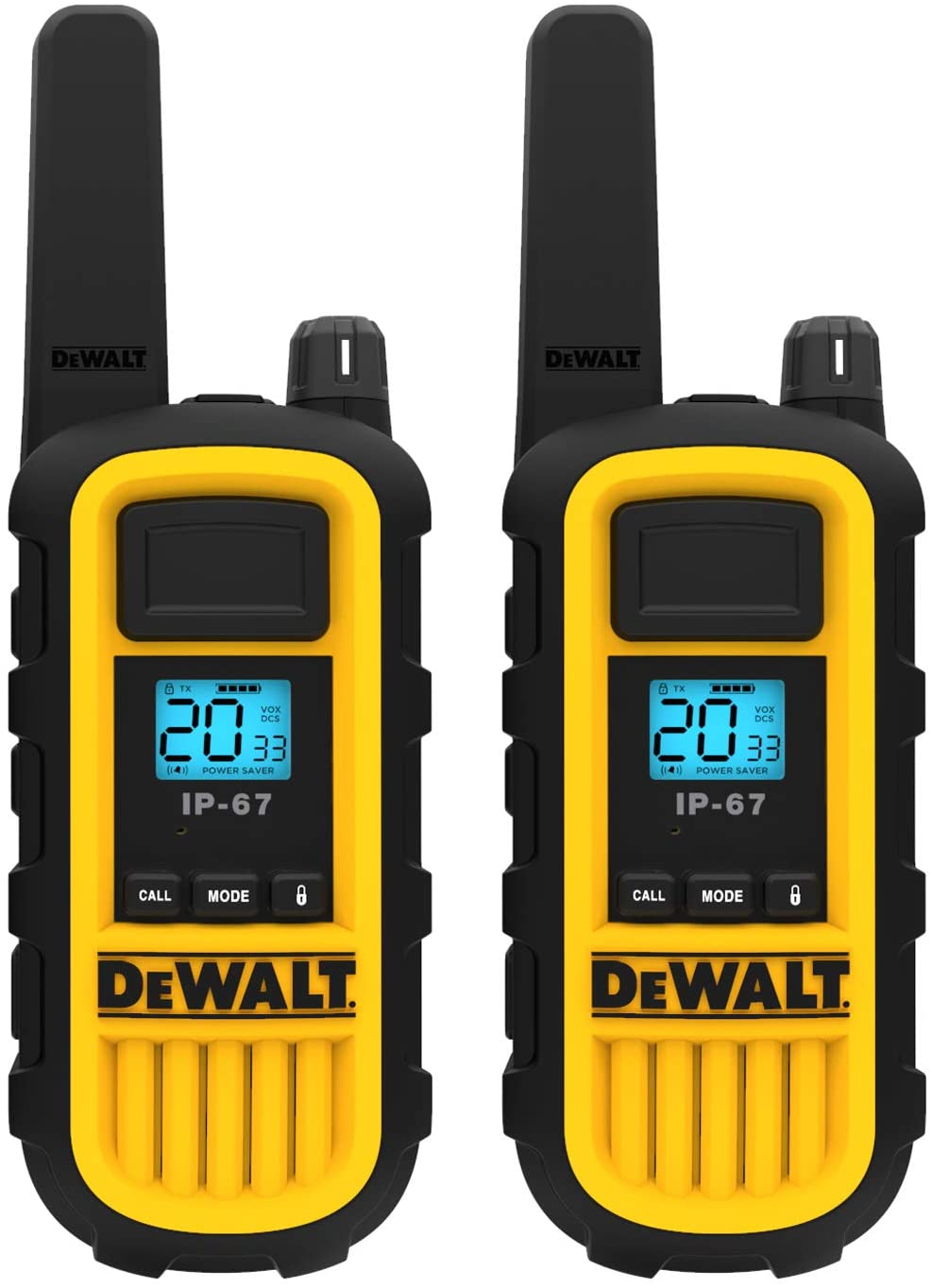 DEWALT DXFRS800 2 Watt Heavy Duty Walkie Talkies