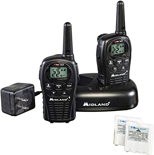 Midland - LXT500VP3, 22 Channel FRS Walkie Talkies with Channel Scan