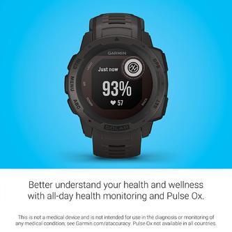 Garmin Instinct Solar, Solar-Powered Rugged Outdoor Smartwatch
