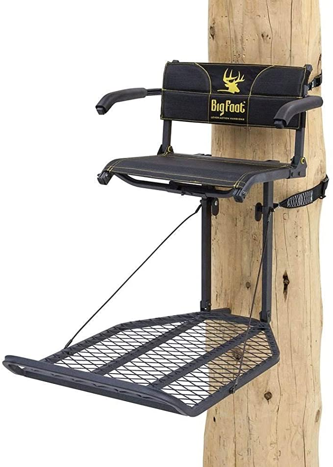 Lever Action Oversized Hang On Tree Stand by Rivers Edge