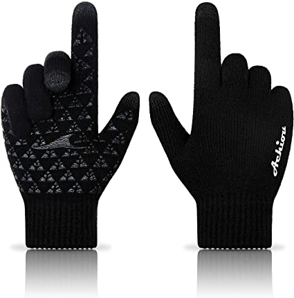 Achiou Winter Knit Thermal Soft Lining Gloves