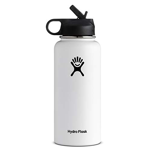 Hydro Flask Vacuum Insulated Stainless Steel Water Bottle Wide Mouth with Straw Lid