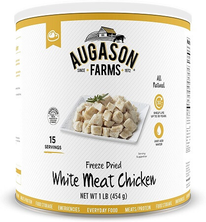 Augason Farms Freeze-Dried White Meat Chicken